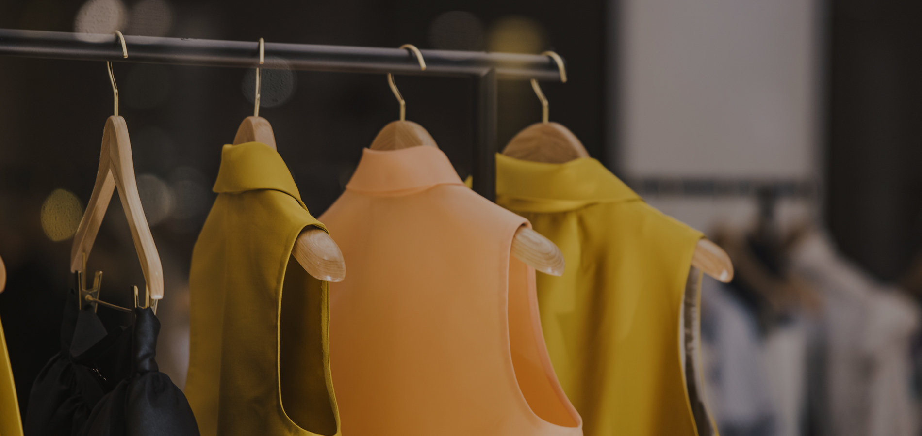 Fashion clothes on rail