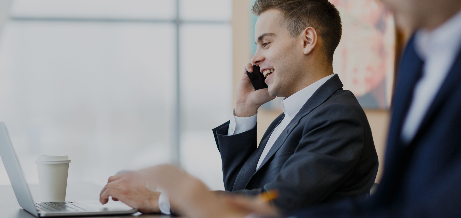 Service providing businessman