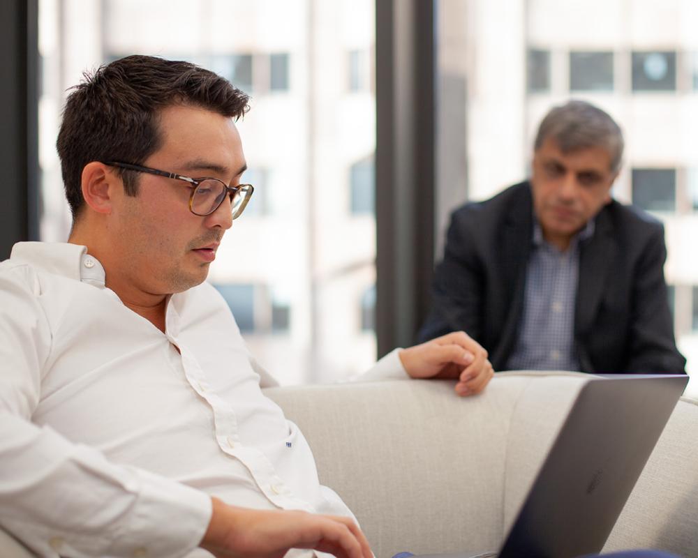 Infor team on laptop